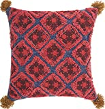 Mina Victory by Nourison AA756 Life Styles Diamond Patches Throw Pillow, 20'' x 20'', Multicolor