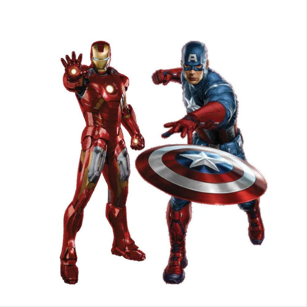 Ameublement Et Decoration Dessin Anime Avenger Sticker Mural Iron Man Captain America Pour Enfants Chambres Decalcomanies Garcons Amour Enfants Chambre Decor Enfants Cadeaux 50x57 Cm Sticker Mural Cuisine Maison Hotelaomori Co Jp