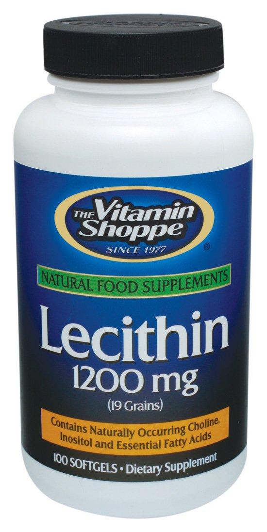 the Vitamin Shoppe Lecithin 1200 MG Softgels