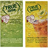 True Lemon and True Lime Dispenser Packets 100ct (2pk Variety). Sugar Free Drink Mix, Natural Flavored Water Enhancer, Great Powdered Diet Drink Mix Packets For Paleo Diet, Atkin's Diet, or Other Diets. 100% Natural Drink Mix