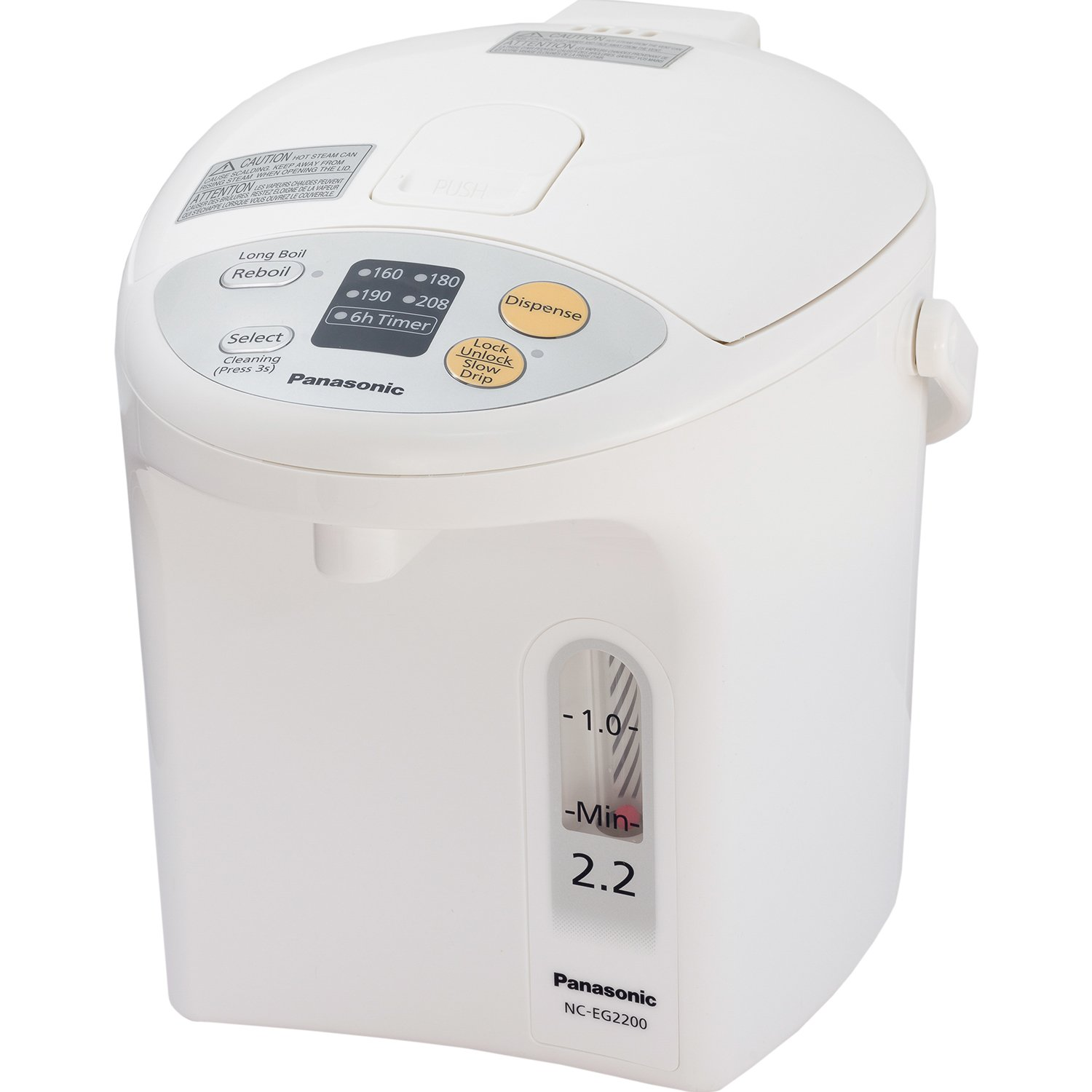 Panasonic NC-EG2200 Electric Thermo Pot, 2.3 quart, White by Panasonic (Image #1)