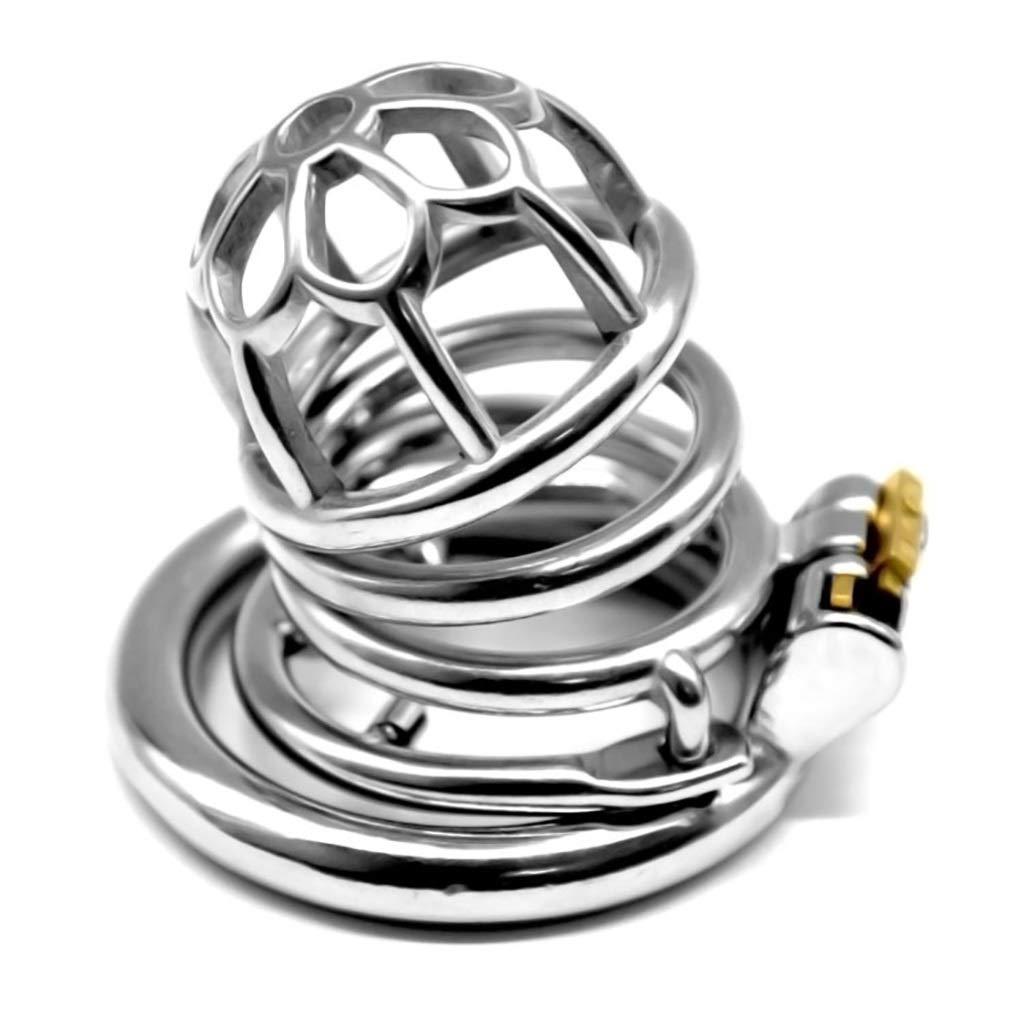 GKWJD-Chástí-ty Belt Cock Lock Male Metal Chasteness Waterproof Stainless Steel Device Hypoallergenic for Men Beginners Shirt b45 (Size : 50mm) by GKWJD-