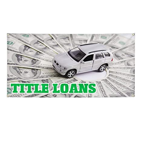 Vinyl Banner Sign Title Loans #1 Business Outdoor Marketing Advertising White