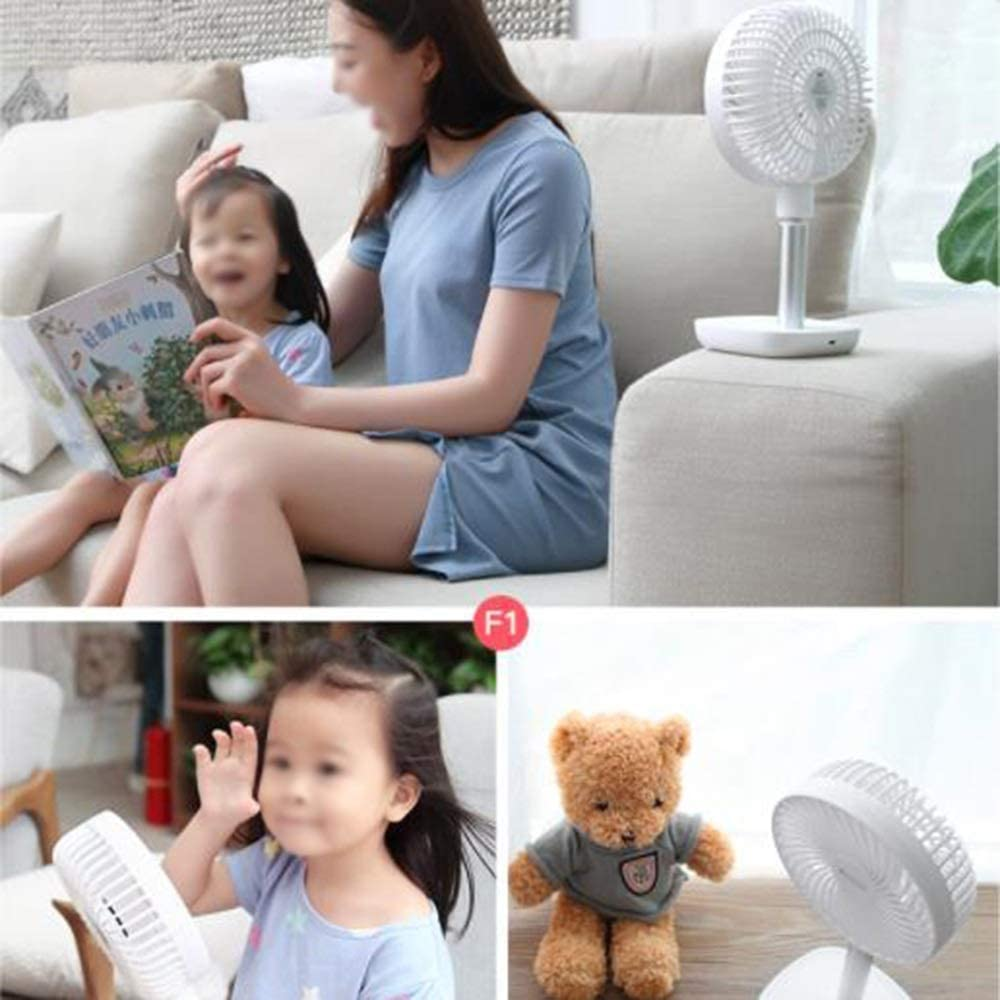Suitable for Office etc Snow Mountain White//Glacier Blue // Kitchen Bedroom Strong Wind Adjustable Angle Dormitory LMMNFS USB Mini Fan Portable Student Dormitory Mute Small Table Fan Mute