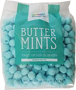 Party Sweets Blue Buttermints, 2.75 Pound, Appx. 350 pieces from Hospitality Mints