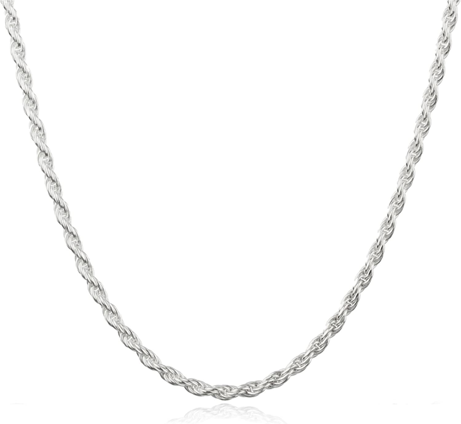 "JOTW Sterling Silver 2mm Rope Chain - Available in 7"" to 40"" Available (67-Y5AH-TMAS)"
