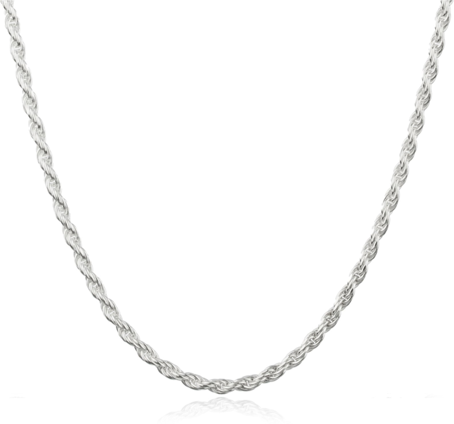 JOTW Sterling Silver 2mm Rope Chain (sterling-silver, 24 Inches) (I-2592 (FBM))