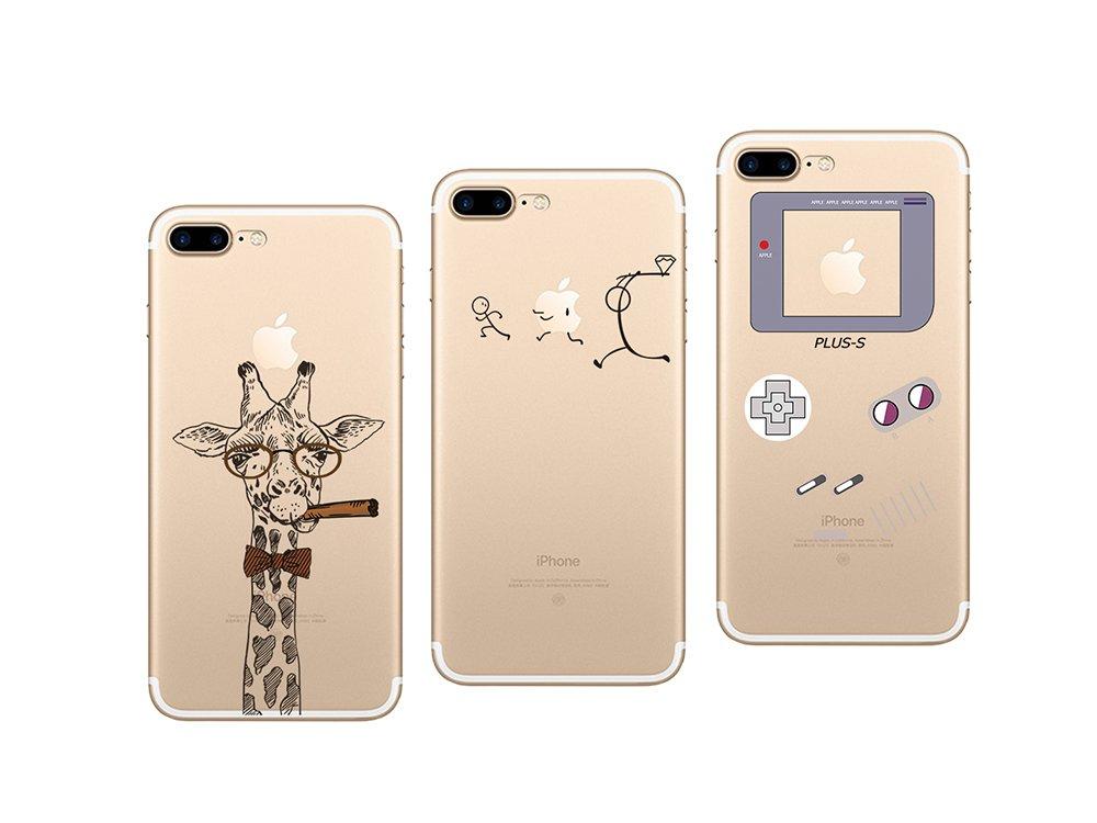 Multicolore #18 Novago Compatible avec iPhone 7 iPhone 8 4,7 Pack de 3 Coques Souples transparetes et R/ésistantes avec Impression Fantaisie
