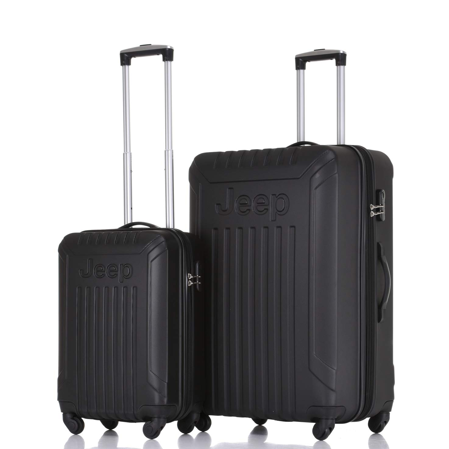 3c6119f69a Jeep Luggage Missouri 2019 Hard Case 3 Piece Suitcase Travel Trolley  Tourist Bag with Spinner Wheels Luggage Sets (Black) (20