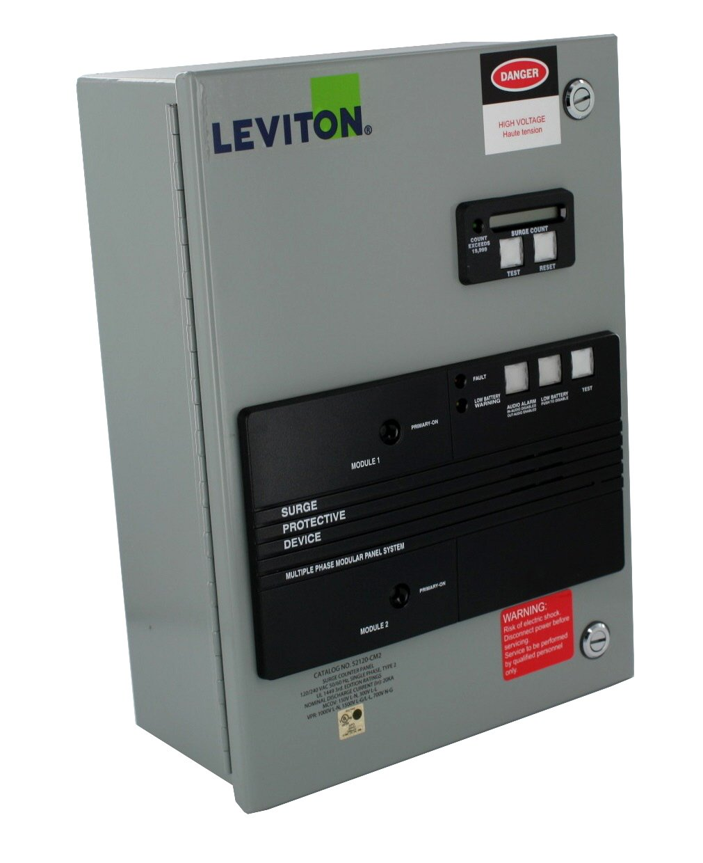 Leviton 52120-CM2 120/240V AC Single-Phase 3-Wire and Ground, Home Automation Model with Surge Counter by Leviton