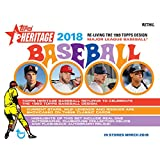 #4: 2018 Topps Heritage Baseball Mass Value Box Factory Sealed 8 Pack Box