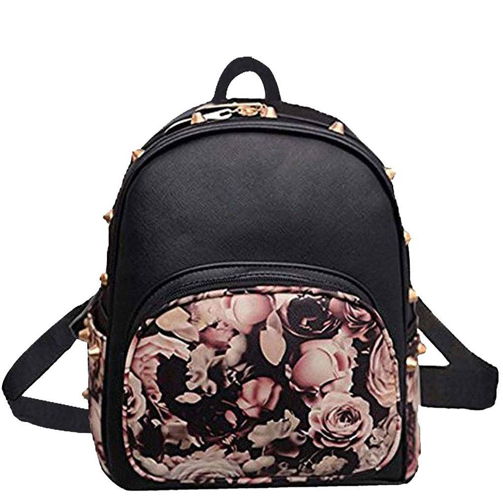RMXMY Fashion Personality Butterfly Shoulder Bag Bag Rivet Daffodil Backpack Personality Creative Leisure Practical Beautiful Leather Mini Travel Bag Cute Trend Wild Shoulder Bag by RMXMY
