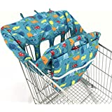 4 Legs Holes Double Babies Shopping Cart Cover for Twin...