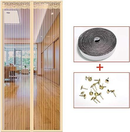 ACDRX Puerta mosquitera magnética, Malla magnética, Resistente al Fuego, Fibra de Vidrio, Puerta Francesa, mosquitera, mosquitera, 85 * 210cm/33.5 * 82.7in: Amazon.es: Hogar