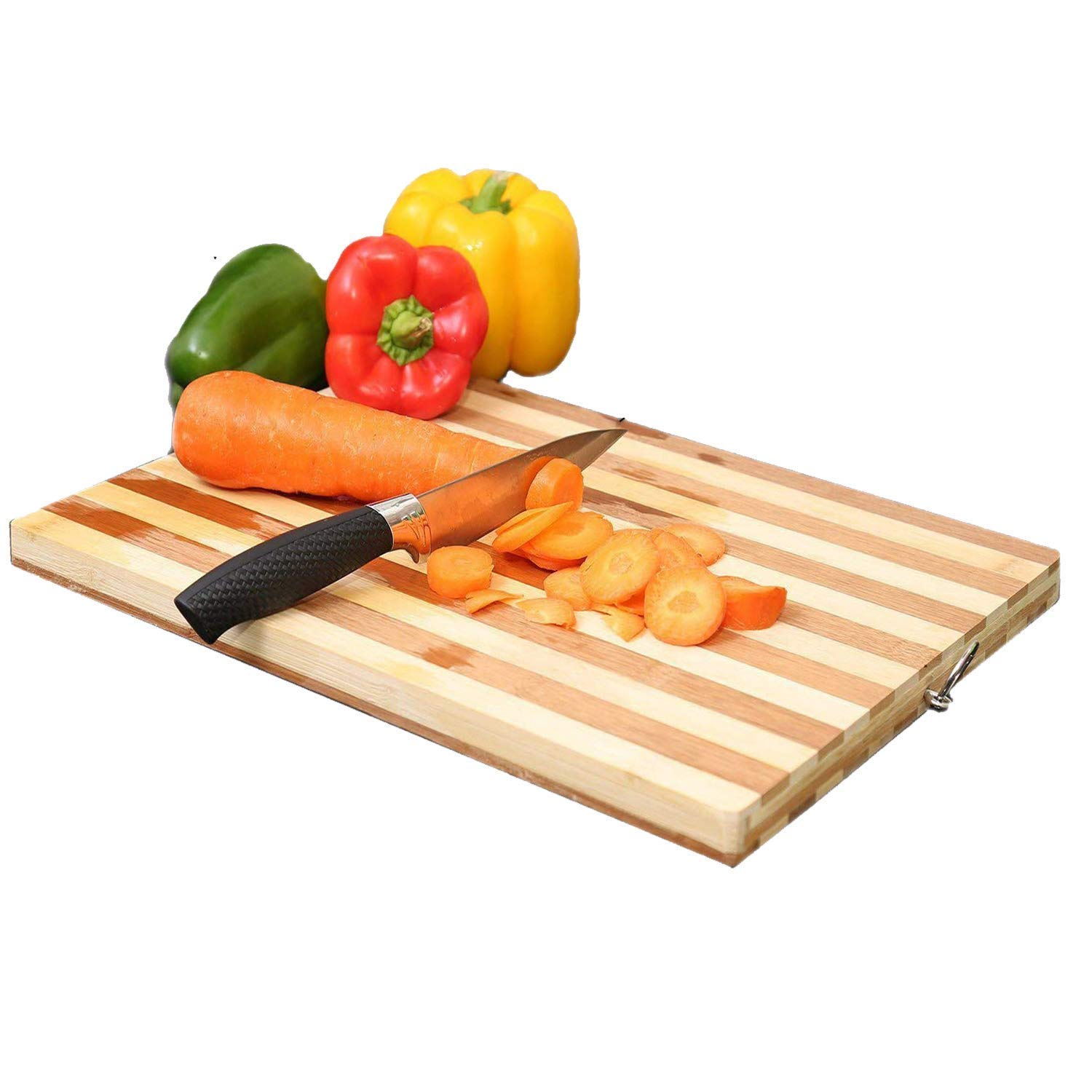 Gulwan Non-slip Wooden & Bamboo Cutting Board with Antibacterial Surface, Small(Yellow)