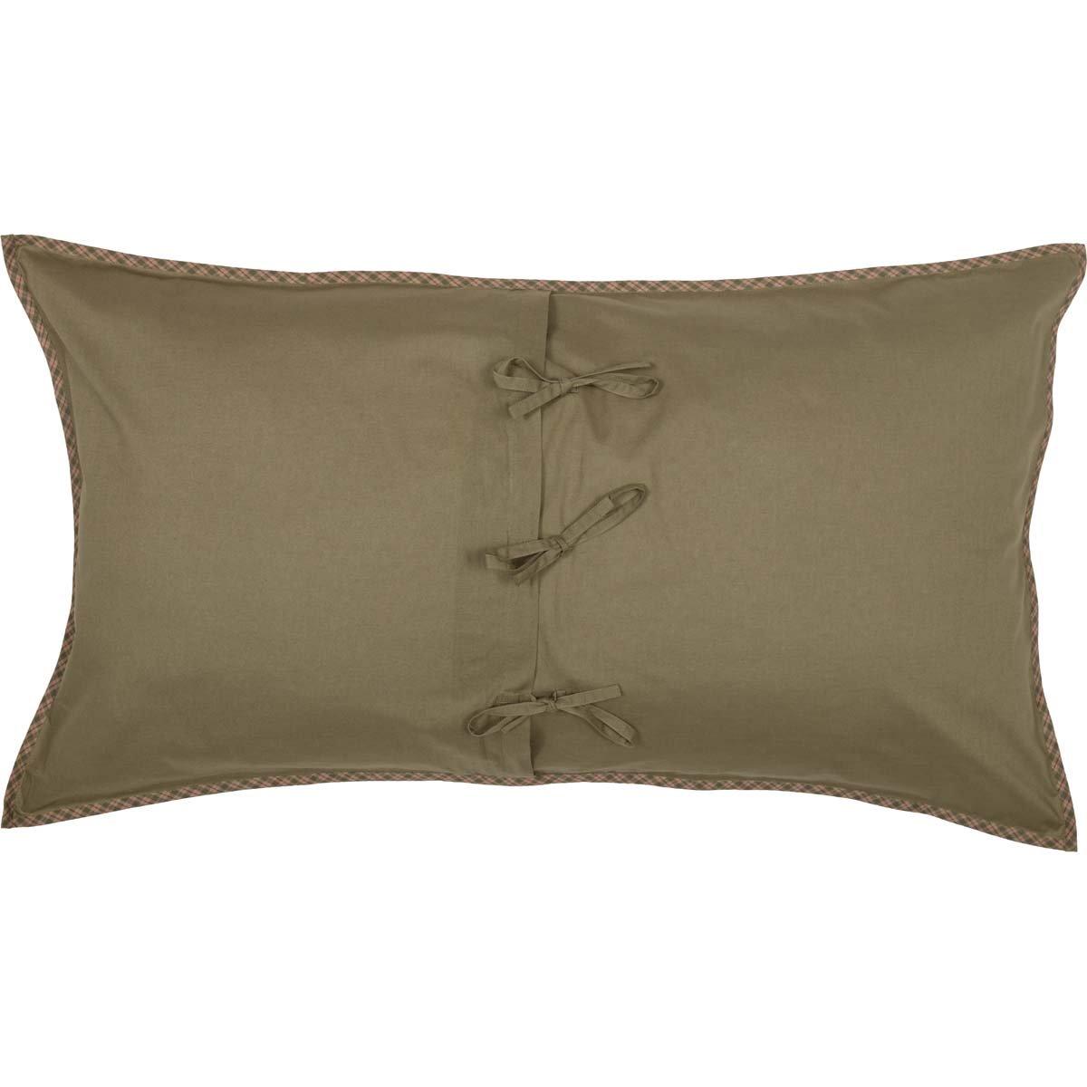 VHC Brands Sequoia Seasonal Bedding Sham Standard Green