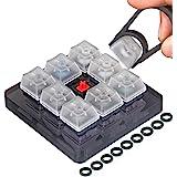 Akwox 9-Key Cherry MX Switch Tester, Keycap puller, keyboard Keycap, O-Ring Sampler Tester Kit