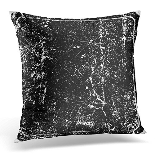 Review VANMI Throw Pillow Cover Black Ink Grunge Rubber Stamp Aged Seal Decorative Pillow Case Home Decor Square 20×20 Inches Pillowcase