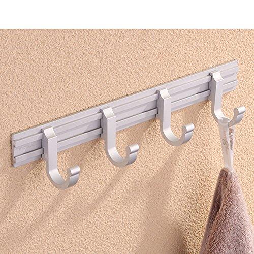 door-back hook/Wall-mounted Robe Hook/coat and hat hook / kitchen hooks/ Space aluminum hook-C 85%OFF