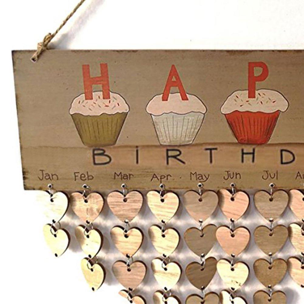 Plaque de signe de calendrier A Anniversaire // Newlywed // Valentines Day // Anniversary Le cadeau parfait Conseil cr/éatif de bricolage de rappel de bois Conseil danniversaire de famille