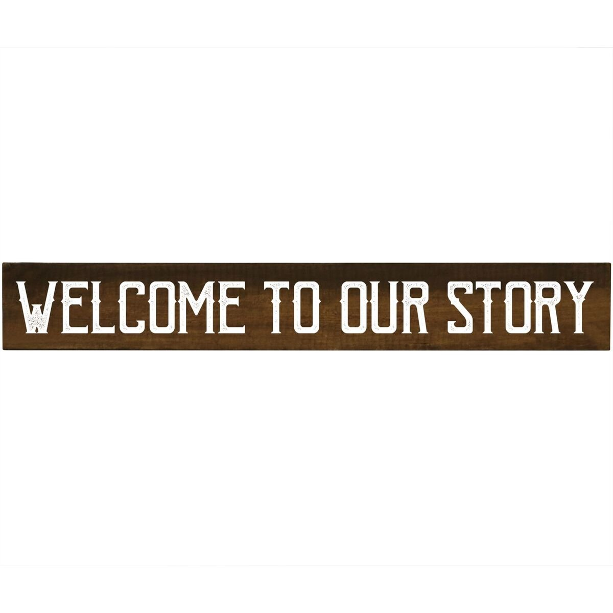 Amazon Welcome To Our Story Inspirational Pine Block