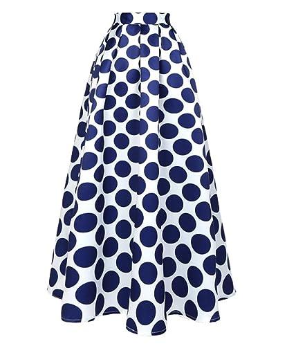 CoutureBridal – Falda – trapecio – para mujer azul M