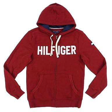 b42d6fafa2212 Tommy Hilfiger Mens Full Zip Graphic Hoodie