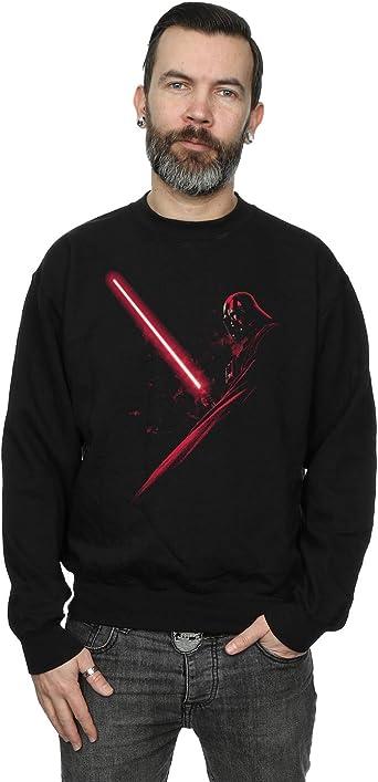 Star Wars Hombre Darth Vader Shadow Camisa de Entrenamiento: Amazon.es: Ropa y accesorios