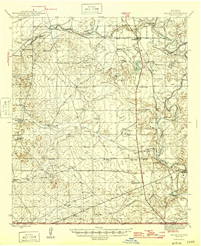 YellowMaps Malaga NM topo map, 1:62500 Scale, 15 X 15 Minute, Historical, 1946, 20.9 x 17.1 in - Tyvek