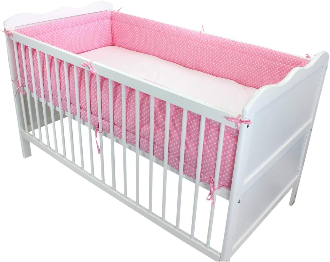 Cot 140x70 cm TupTam Baby Cot Bumper All Around Padded Bed Protection Stars Blue 420x30 cm