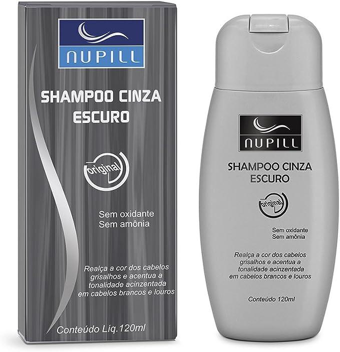Shampoo 120ml, Nupill, Grafite, Cinza Escuro