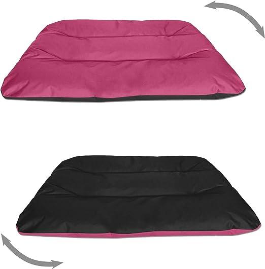 BedDog® Rex 2en1 Rosa/Negro XXXL Aprox. 140x110x14cm colchón para ...