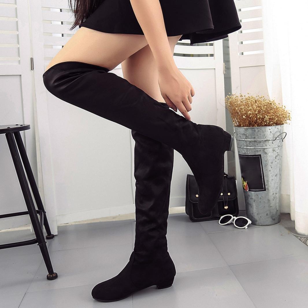 7b3f3f454843c Amazon.com: Aurorax Women's Thigh High Stretch Boot - Trendy High ...
