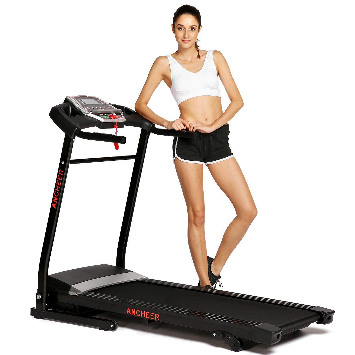 ANCHEER Treadmill, APP Control Electric Folding Treadmills (Black) (Black) by ANCHEER (Image #1)