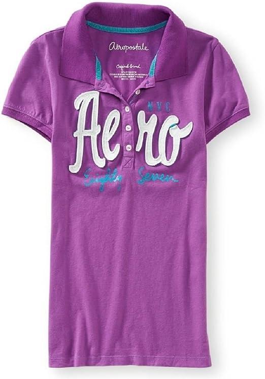 Aeropostale Camiseta Logo bordado Polo de manga corta: Amazon.es ...