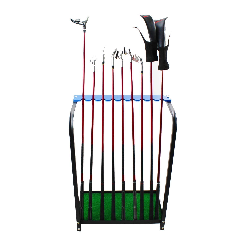 Kofull Golf Club Display Stand Rack Durable Metal Storage 9 Clubs Golf Clubs Shelf Organizers Equipment by Kofull