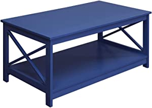 Convenience Concepts Oxford Coffee Table, Cobalt Blue