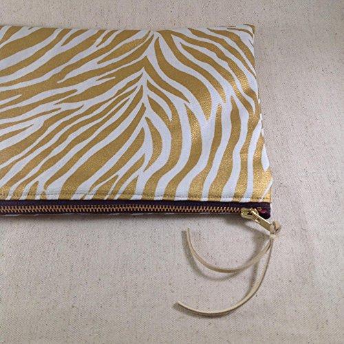 Gold Zebra Handbag/Clutch.