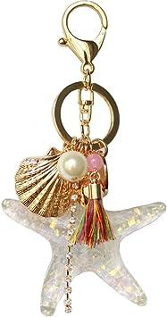 Amazon.com: jewelbeauty Estrella de mar Cadena clave – La ...