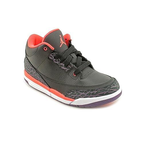 Jordan III (3) Retro (Preschool) - Black   Bright Crimson-Canyon 8d82f309c