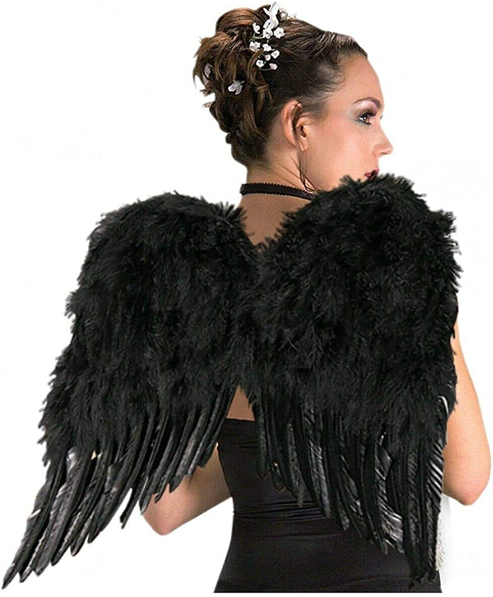 FEATHER ANGEL WINGS ADULT FAIRY GHOST HALLOWEEN FANCY DRESS COSTUME ACCESSORY