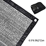 50% Sunblock Shade Cloth Net Black UV Resistant, Garden Shade Mesh Tarp for Plant Cover, Greenhouse, Barn or Kennel, Top Shade Cloth Quality Panel for Flowers, Plants, Patio Lawn