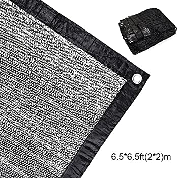 50% Sunblock Shade Cloth Net Black UV Resistant, Garden Shade Mesh Tarp for Plant Cover, Greenhouse, Barn or Kennel, Top Shade Cloth Quality Panel for ...