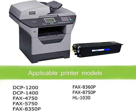 FAX-5750 DCP-1400 use with DCP-1200 FAX-8350P FAX-8360P Black, 2-Pack FAX-4750 Awesometoner Compatible Toner Cartridge Replacement for Brother TN430 TN460//TN530//TN540//TN560//TN570