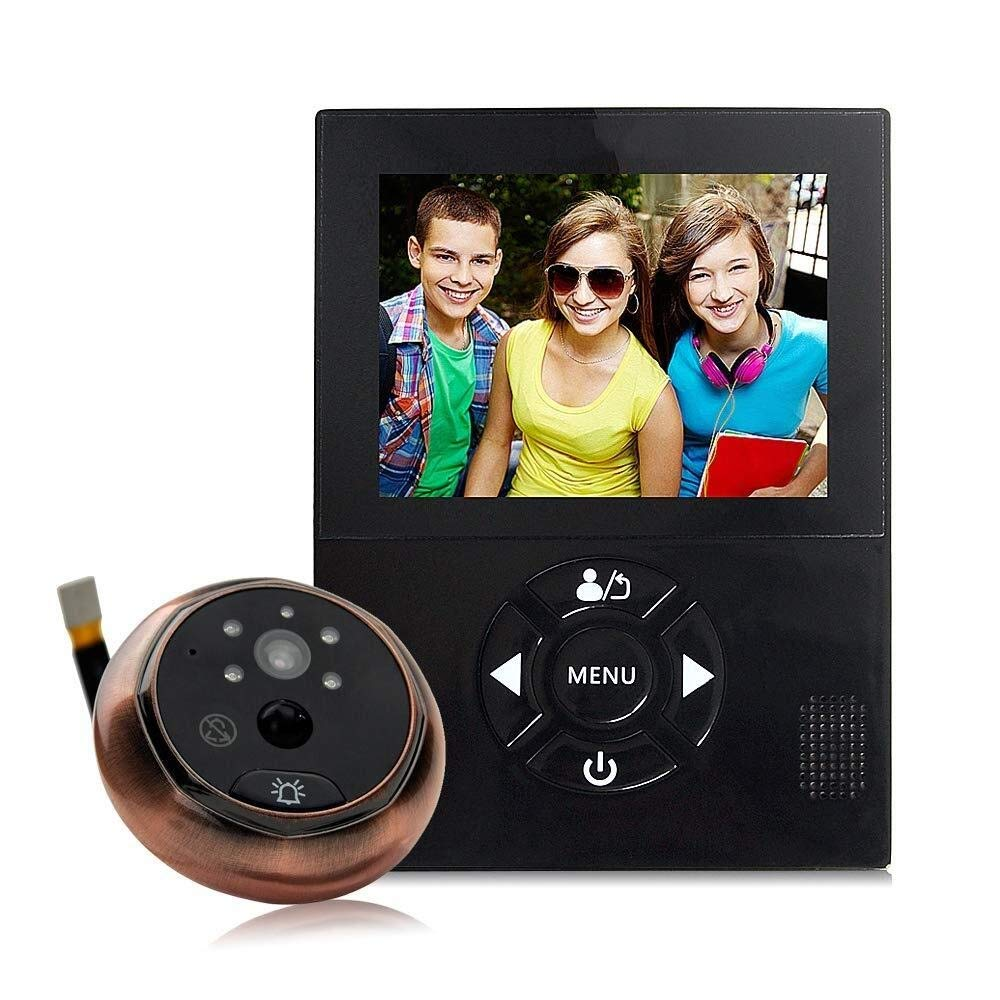 Bbhhyy Multi-Function Wireless Video Door Phone, Video Doorbell 720P HD Security Camera with Chime, Night Vision, PIR Motion Detection, Best Protection