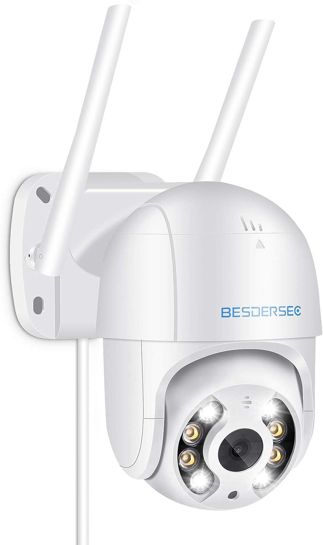 Camara Wifi Exterior Motorizada Cameras De Vigilancia Wifi 1080p Hd Camera Wifi Impermeable Ip66 Con Audio De Dos Vías Visión Nocturna 50m En Color Detección De Movimiento Monitorización Inteligente Amazon Es Electrónica
