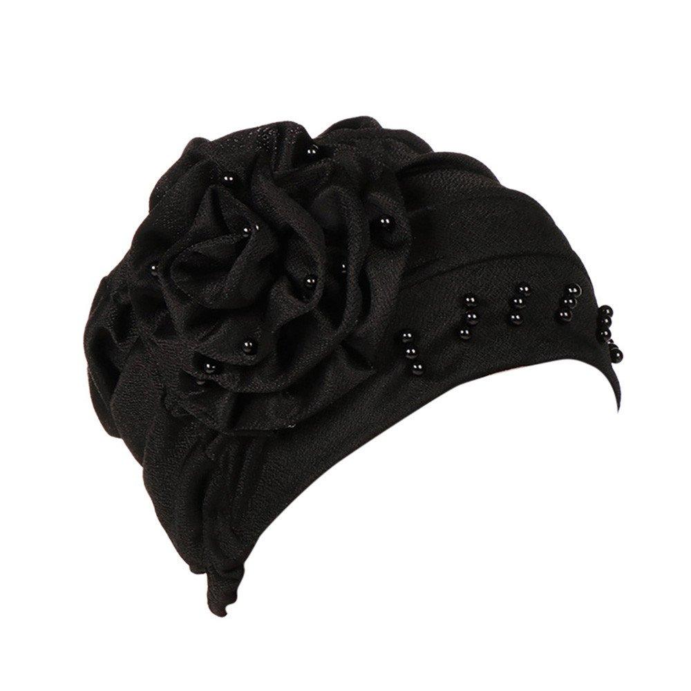 f990cdf4615 Women Muslim Stretch Turban Hat Chemo Cap Hair Loss Head Scarf Wrap Hijib  Cap Women Muslim Solid Flowers Ruffle Cancer Patient Chemo Hat Turban  Headbands ...