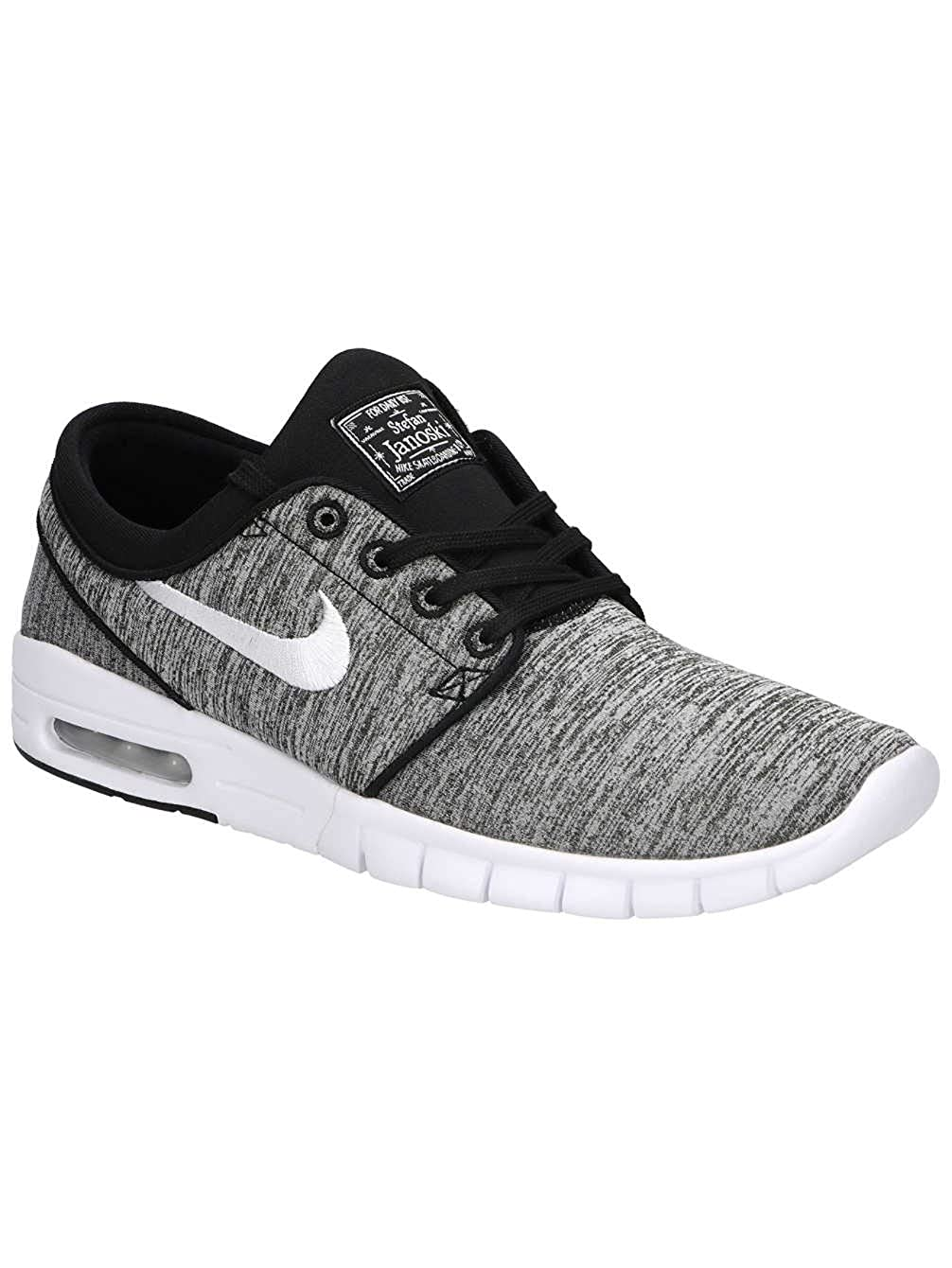 Amazon.com | Nike SB Stefan Janoski MAX Mens Sneaker 631303-028-size 10 Black/White | Shoes