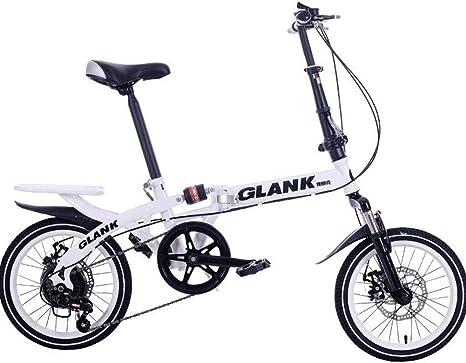 Bicicleta Plegable ZBQ de 16 Pulgadas para Hombres y Mujeres ...