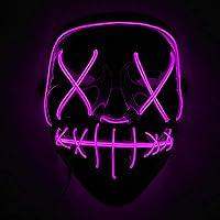 Immoch Masque LED Déguisement Halloween Noël Cosplay Festival